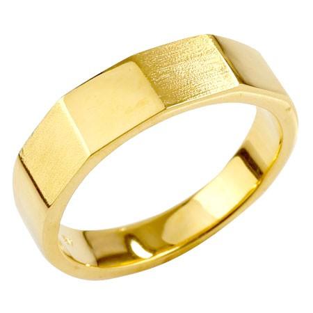 【送料無料】メンズジュエリー リング 指輪 カットリング 地金 イエローゴールドk18