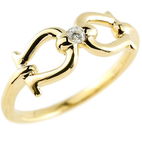 メンズ ダイヤモンド イエローゴールドリング  指輪 ダイヤ 一粒 ダイヤモンドリング k18 男性用 ストレート