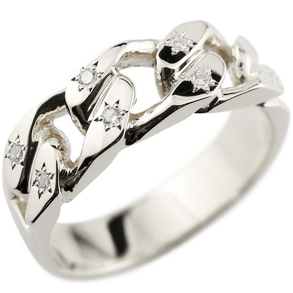 メンズ 喜平リング ダイヤモンド ホワイトゴールドK10 リング 指輪 婚約指輪 10金 キヘイ 鎖 ダイヤ 男性用 コントラッド 東京