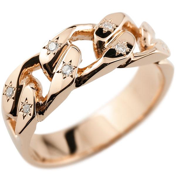 メンズ 喜平リング キュービックジルコニア ピンクゴールドK18 リング 指輪 婚約指輪 18金 キヘイ 鎖 男性用 コントラッド 東京
