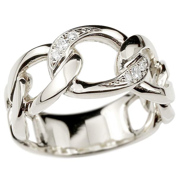 メンズ 喜平リング ダイヤモンド プラチナ リング 指輪 婚約指輪 pt900 キヘイ 鎖 ダイヤ 幅広 男性用