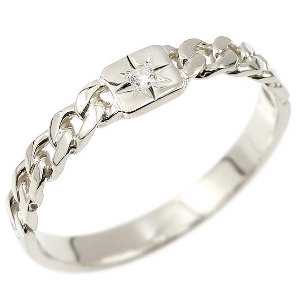メンズ ダイヤモンドリング ホワイトゴールドk18 喜平リング 指輪 ダイヤ 一粒 ストレート 18金 男性用 コントラッド 東京
