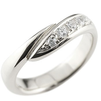 メンズ キュービックジルコニア シルバーリング 指輪 ピンキーリング スパイラル ウェーブリング sv 男性用