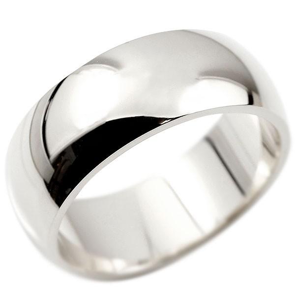 指輪 ホワイトゴールドk18 幅広 リング 鍛造 たんぞう 地金 リング シンプル 宝石なし レディース 地金 ピンキーリング リング