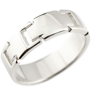メンズ クロス プラチナリング 指輪 ピンキーリング 地金リング 幅広指輪 十字架 シンプル 宝石なし pt900 男性用