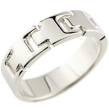 メンズ プラチナリング 指輪 ピンキーリング 地金リング 幅広指輪 シンプル 宝石なし pt900 男性用