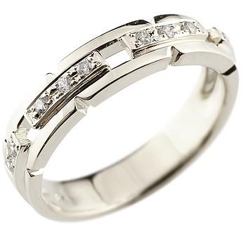 メンズ ダイヤモンド リング 幅広 指輪 ピンキーリング ダイヤ ダイヤモンドリング ホワイトゴールドk18