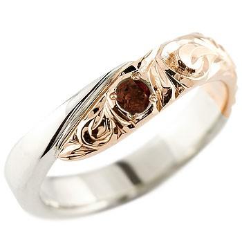 メンズ ハワイアンジュエリー リング プラチナ ピンクゴールドk18 コンビリング 指輪 ハワイアンリング スパイラル 男性用