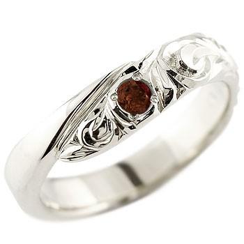 ハワイアンジュエリー ホワイトゴールドリング 指輪 ハワイアンリング スパイラル k18 男性用