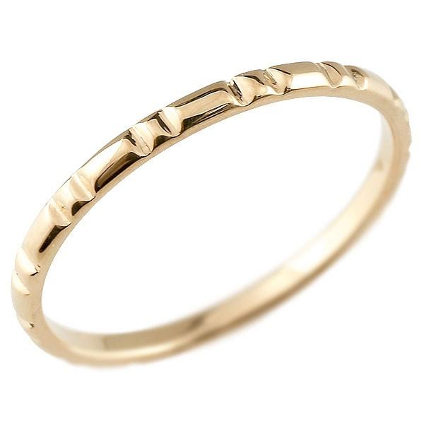 ピンキーリング ピンクゴールドk10 極細 10金 華奢 ストレート 指輪