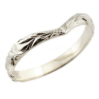 メンズ ハワイアンジュエリー プラチナリング 指輪 ハワイアンリング V字 pt900 男性用