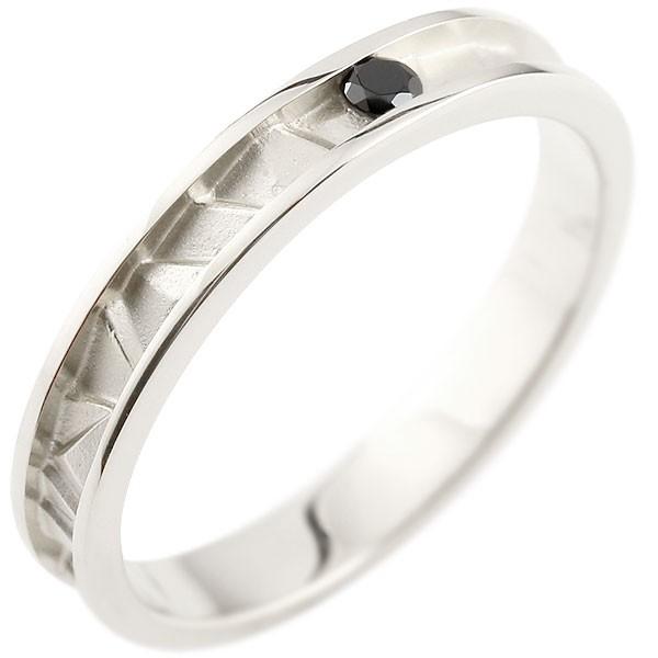 プラチナリング 指輪 ピンキーリング ダイヤリング つや消し シンプル