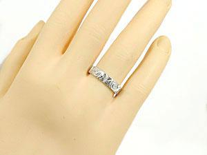 指輪一粒ダイヤK18WGハワイアンジュエリー