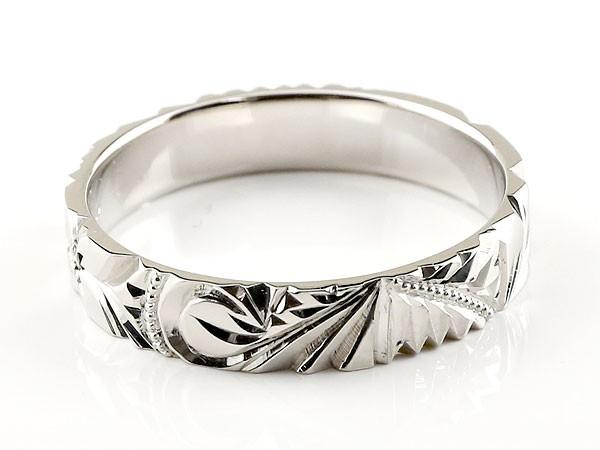 指輪K18WG一粒ダイヤハワイアンジュエリー