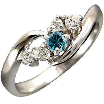 指輪 ハードプラチナ950  エンゲージリング ダイヤモンド ブルーダイヤモンド リング ピンキーリング ダイヤ 婚約指輪 ダイヤモンドリング