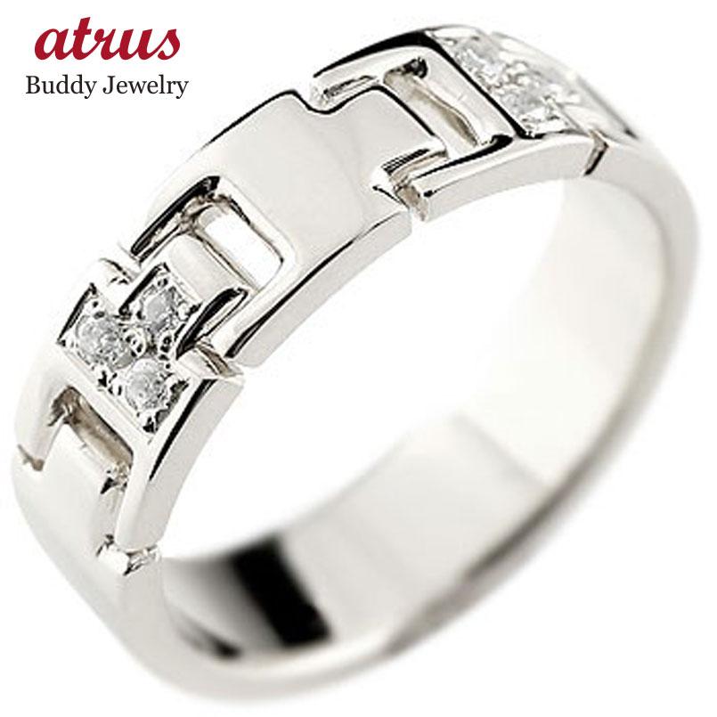シルバー 指輪  ピンキーリング キュービックジルコニア 幅広指輪 レディース