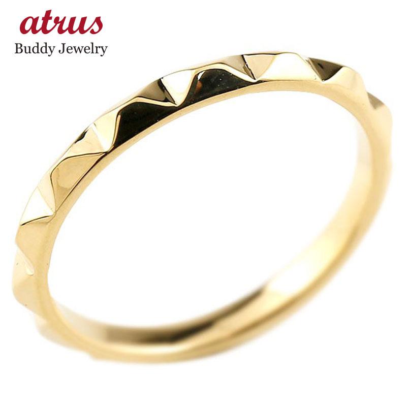婚約指輪 エンゲージリング 指輪 イエローゴールドk10 メンズ 地金リング 10金