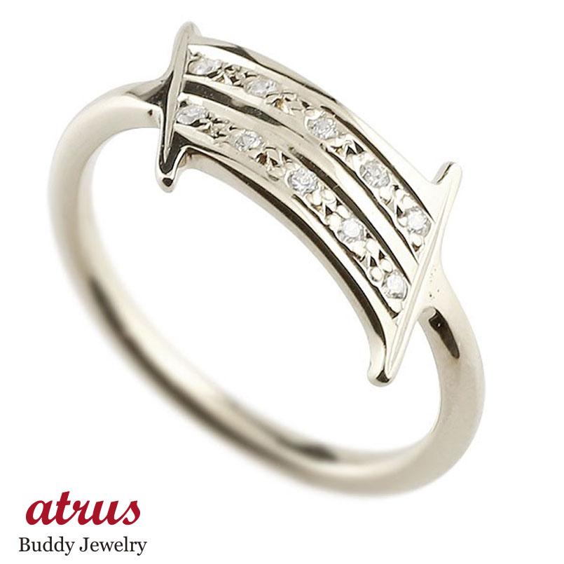 ナンバー No.1 キュービックジルコニア ホワイトゴールド k18 リング 指輪 数字 ピンキーリング