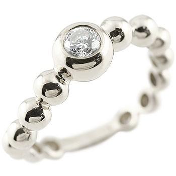 ダイヤモンド ハードプラチナ950 指輪 丸玉 ボールリング S字 カーブ ダイヤ ダイヤモンドリング 一粒 大粒  pt950