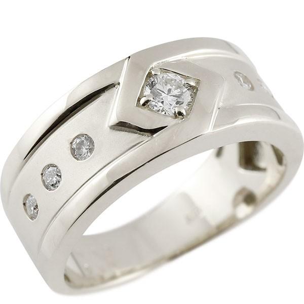 メンズリング プラチナ ダイヤモンド リング ピンキーリング 指輪 pt900 指輪 ダイヤ