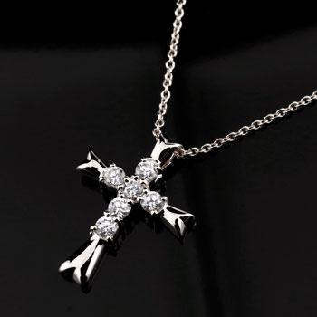 メンズジュエリー クロス ダイヤモンド プラチナ ネックレス ペンダント 十字架 ダイヤ