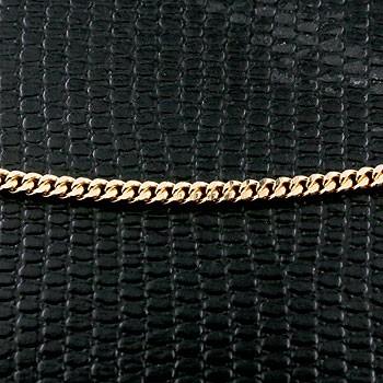 喜平 ネックレス イエローゴールドk18 2面カット 2.3ミリ幅 チェーン 35cm 鎖 レディース 18金 キヘイ 地金ネックレス