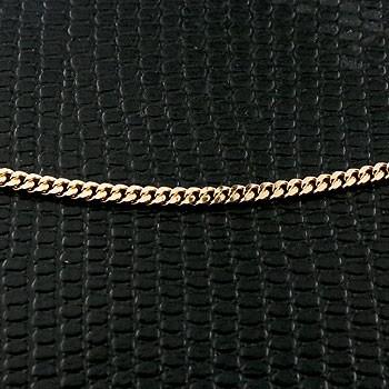 喜平 ネックレス イエローゴールドk18 2面カット 2ミリ幅 チェーン 45cm 鎖 レディース 18金 キヘイ 地金ネックレス