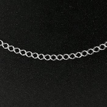喜平 シルバーチェーン 3.4ミリ幅 100cm 鎖 レディース sv925 キヘイ 地金