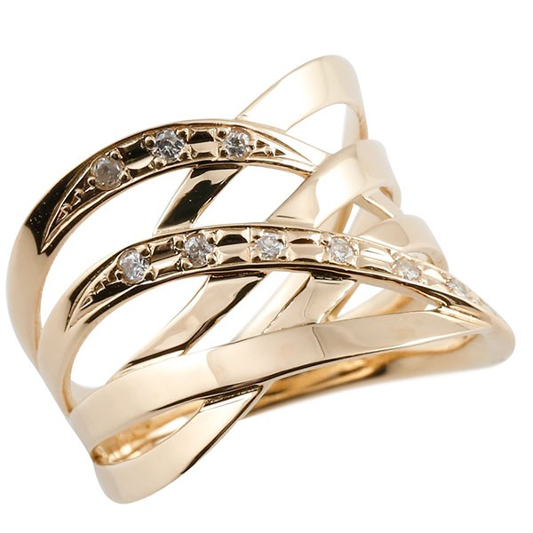 エンゲージリング アラベスク ダイヤモンド リング 透かし ピンクゴールドk18 ピンキーリング 18金 指輪 指輪 ダイヤ