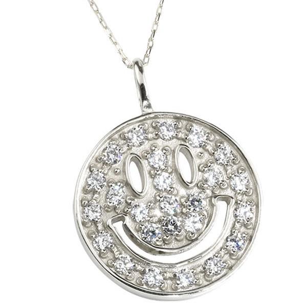 ネックレス ダイヤモンド  ダイヤ ホワイトゴールド ペンダント レディース チェーン 人気