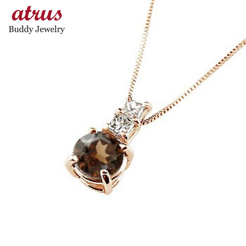 ネックレス ガーネット ペンダント ダイヤモンド ピンクゴールドk10  シンプル レディース チェーン 人気 k10 10金 1月誕生石