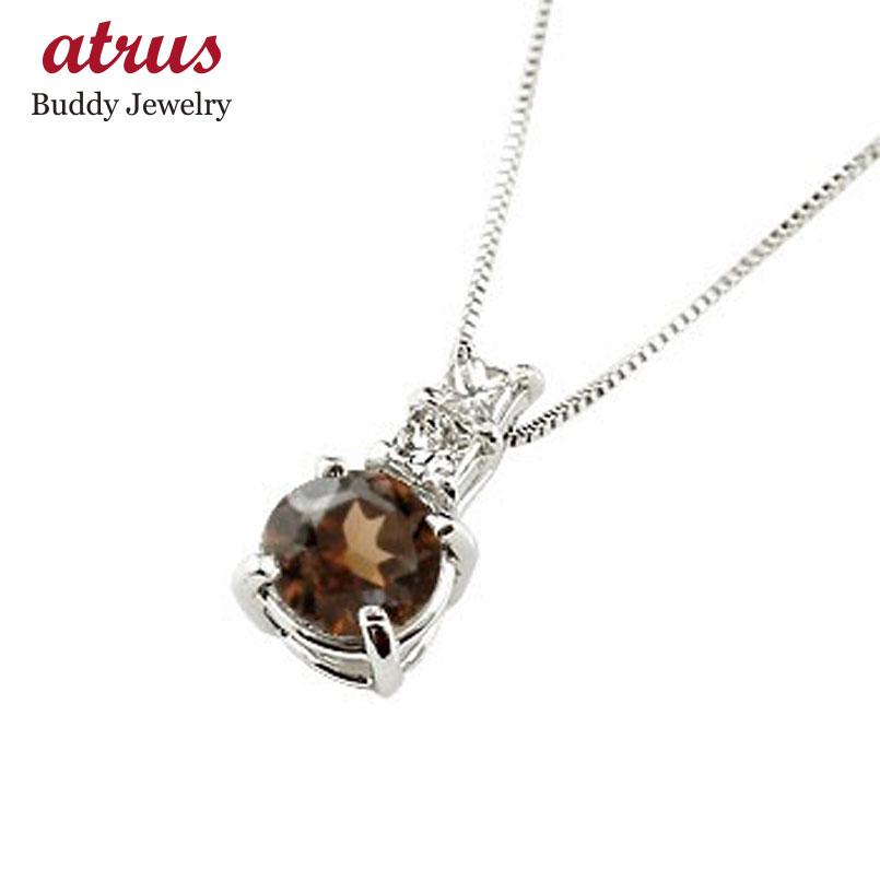 ネックレス ガーネット ペンダント ダイヤモンド ホワイトゴールドk18  シンプル レディース チェーン 人気 k18 18金 1月誕生石