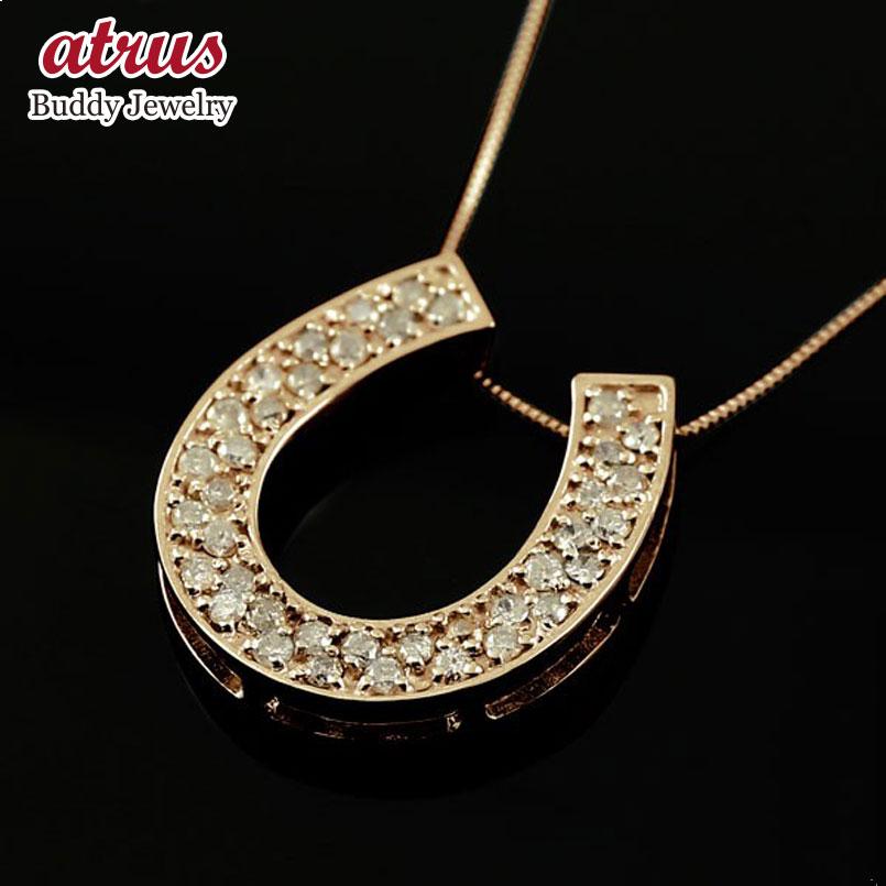 ダイヤモンド ピンクゴールドネックレス ダイヤモンド ペンダント チェーン 人気 k18