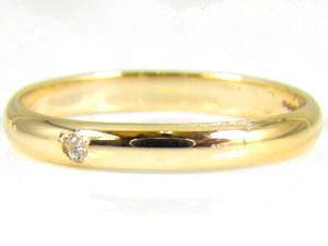 【送料無料・結婚指輪】ペアリングイエローゴールドk10指輪☆2本セット☆【工房直販】