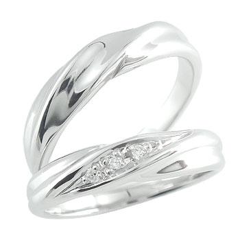 結婚指輪 ダイヤモンド マリッジリング ペアリング プラチナ 結婚式