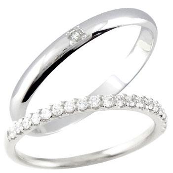 ペアリング 結婚指輪 マリッジリング プラチナ ダイヤモンド ハーフエタニティ
