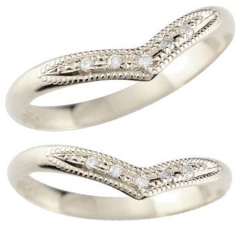 【送料無料・結婚指輪】ペアリング 結婚指輪 ダイヤモンド プラチナ☆2本セット☆指輪【工房直販】