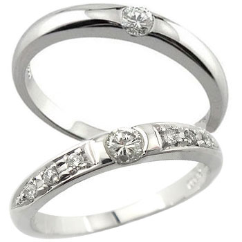 【送料無料・結婚指輪】ペアリング 結婚指輪 ダイヤモンド ブルーダイヤモンド(トリートメントカラー) プラチナ 2本セット☆指輪【工房直販】
