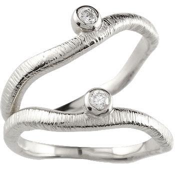 【送料無料・結婚指輪】ペアリング 結婚指輪 マリッジリング ダイヤモンド 一粒ダイヤモンド ホワイトゴールドk18【工房直販】