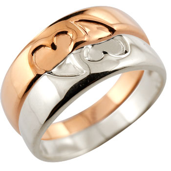 ハート ペアリング マリッジリング 結婚指輪 ピンクゴールドk18
