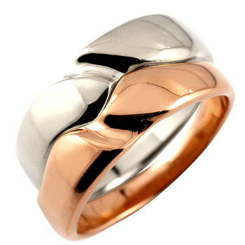 ペアリング 結婚指輪 マリッジリング ピンクゴールドk18 プラチナ
