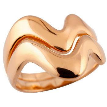 ペアリング 結婚指輪 マリッジリング V字リング ピンクゴールドk18