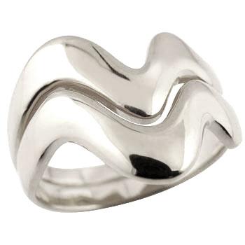 ペアリング 結婚指輪 マリッジリング V字リング ホワイトゴールドk18