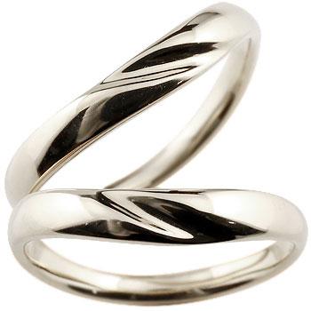 V字 ペアリング 結婚指輪 マリッジリング ホワイトゴールドk18 地金リング ブイ字 結婚式 シンプル 宝石なし