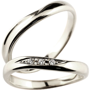 ペアリング 結婚指輪 マリッジリング キュービックジルコニア シルバー