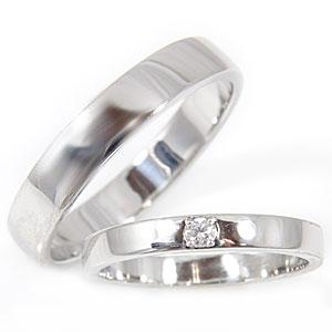 【送料無料・結婚指輪】ペアリングダイヤモンドホワイトゴールドK18☆2本セット☆指輪【工房直販】特別価格