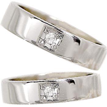 ペアリング ホワイトゴールドk18 ダイヤモンド 結婚指輪 マリッジリング 結婚式 18金