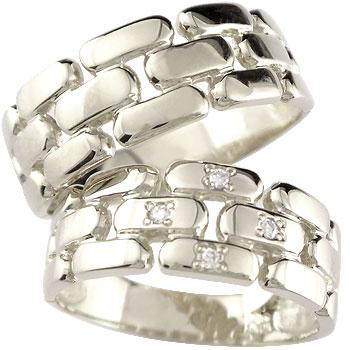 【送料無料・結婚指輪】ダイヤモンドペアリングプラチナ900☆2本セット☆指輪【工房直販】