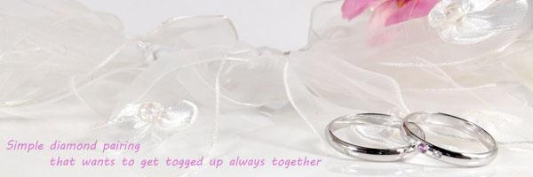 【送料無料:特別価格】ペアリングダイヤモンドピンクサファイアホワイトゴールドk10結婚指輪:結婚記念リング:ハンドメイド☆2本セット☆指輪