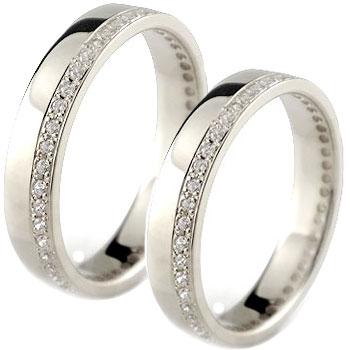 ペアリング 結婚指輪 マリッジリング フルエタニティ ダイヤモンド ホワイトゴールドk18